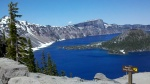 Crater Lake.  The island in the lake is Wizard Island.